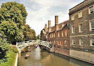 canal in city of Cambridge